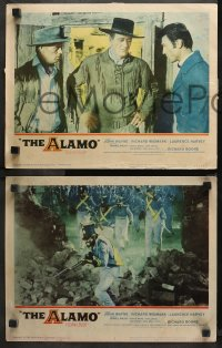 3g0452 ALAMO 6 LCs 1960 cowboy western images of John Wayne, Laurence Harvey & Richard Widmark!