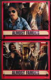 3g0057 ALMOST FAMOUS 8 LCs 2000 Cameron Crowe directed, pretty Kate Hudson, Philip Seymour Hoffman!