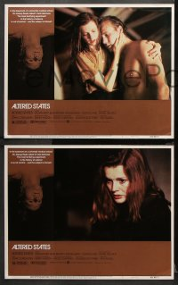 3g0058 ALTERED STATES 8 LCs 1980 William Hurt, Paddy Chayefsky, Ken Russell, sci-fi horror!