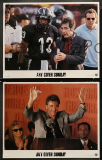 3g0061 ANY GIVEN SUNDAY 8 LCs 1999 Oliver Stone, Al Pacino, Cameron Diaz, Jamie Foxx, football!