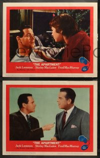3g0485 APARTMENT 5 LCs 1960 Jack Lemmon, Shirley MacLaine, Fred MacMurray, Billy Wilder, key art!