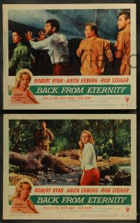 3g0067 BACK FROM ETERNITY 8 LCs 1956 Anita Ekberg, Robert Ryan, Rod Steiger!