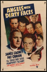 4b0034 ANGELS WITH DIRTY FACES linen 1sh 1938 James Cagney, Pat O'Brien & Dead End Kids, ultra rare!