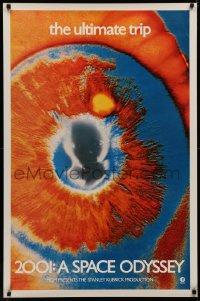 4d0376 2001: A SPACE ODYSSEY 1sh 1970 most rare & desirable colorful EYE poster, the ultimate trip!