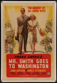 4y0143 MR. SMITH GOES TO WASHINGTON linen style B 1sh 1939 Stewart & Arthur, different & ultra rare!