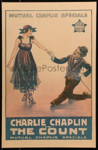 4z0175 COUNT WC 1916 Charlie Chaplin as The Tramp seducing Edna Purviance, ultra rare!