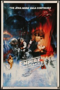 5r0103 EMPIRE STRIKES BACK 1sh 1980 unedited Roger Kastel art w/added images, last sold for $14,500!