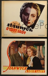 5t0177 LOST LADY 8 LCs 1934 Barbara Stanwyck is unlucky in love, Frank Morgan, beyond rare cards!