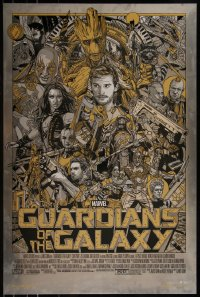 6x0039 GUARDIANS OF THE GALAXY #5/40 24x36 art print 2014 Mondo, art by Tyler Stout, metal edition!