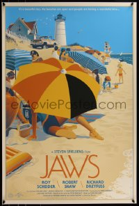 6x1028 JAWS #2/525 24x36 art print 2013 Mondo, Laurent Durieux, first edition, the beaches are open!