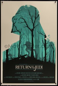 6x1573 RETURN OF THE JEDI #78/400 24x36 art print 2010 Mondo, art by Olly Moss, first edition!
