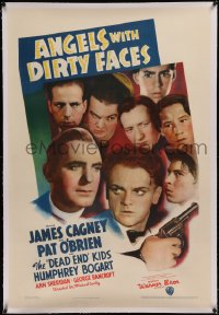 6y0022 ANGELS WITH DIRTY FACES linen 1sh 1938 James Cagney, Pat O'Brien & Dead End Kids, ultra rare!