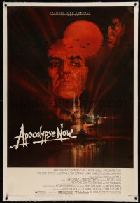6y0025 APOCALYPSE NOW linen 1sh 1979 Francis Ford Coppola, classic Bob Peak art of Brando and Sheen!