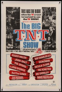 6y0034 BIG T.N.T. SHOW linen 1sh 1966 all-star rock & roll, traditional blues, country & rock music!