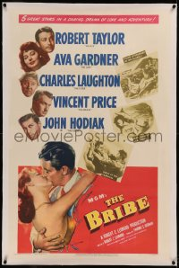 6y0043 BRIBE linen 1sh 1949 Robert Taylor, sexy young Ava Gardner, Charles Laughton, Vincent Price