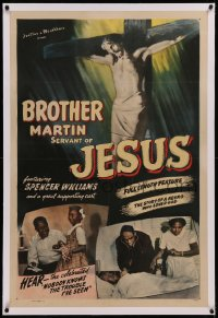 6y0048 BROTHER MARTIN linen 1sh 1942 Spencer Williams & all-black cast, story of a negro who loved God!