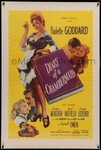 6y0075 DIARY OF A CHAMBERMAID linen 1sh 1946 very true confessions of sexy untrue Paulette Goddard!