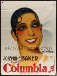 7a0208 JOSEPHINE BAKER music French 1p 1933 great Gaston Girbal art for Columbia, ultra rare!