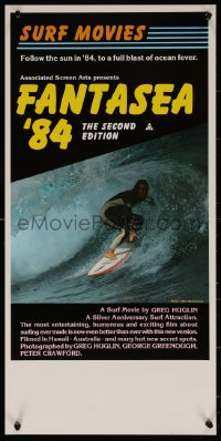 7b0049 FANTASEA '84 Aust daybill 1984 great close up surfing photo, a blast of ocean fever!