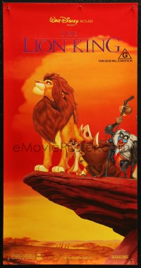 7b0052 LION KING Aust daybill 1994 red style, classic Disney African cartoon!