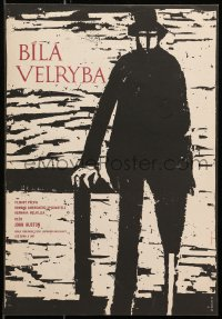 7b0016 MOBY DICK Czech 11x16 1960 John Huston, great art of Gregory Peck by Jiri Balcar!