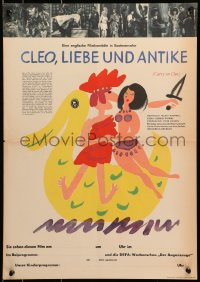 7b0007 CARRY ON CLEO East German 16x22 1966 English comedy on the Nile, Amanda Barrie, Handschick!