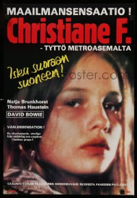 7b0011 CHRISTIANE F. Finnish 1981 classic German drug movie about 13 year-old drug addict/hooker!