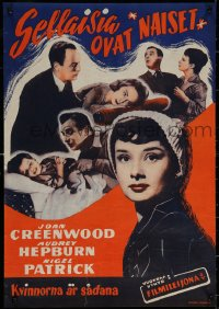 7b0013 YOUNG WIVES' TALE Finnish 1951 Audrey Hepburn falls for married man, completely different!