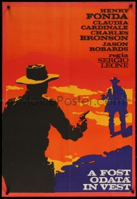 7b0002 ONCE UPON A TIME IN THE WEST Romanian 1968 Leone, completely different art, ultra rare!