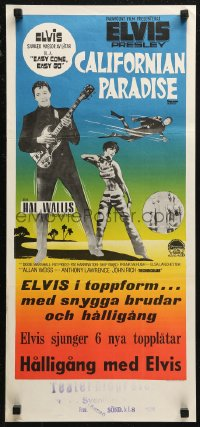 7b0030 EASY COME, EASY GO Swedish stolpe 1967 Elvis Presley looking for fun, different & rare!