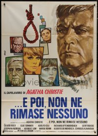 7c0017 AND THEN THERE WERE NONE Italian 1p 1975 Oliver Reed, Elke Sommer, great art by Avelli!