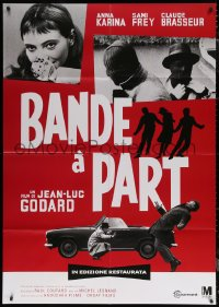 7c0029 BAND OF OUTSIDERS Italian 1p R2001 Jean-Luc Godard's Bande a Part, Anna Karina, different!