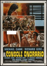 7c0038 BEYOND THE LIMIT Italian 1p 1983 different Symeoni art of naked Richard Gere & girl!
