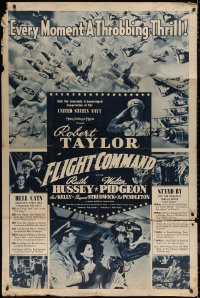 7j0005 FLIGHT COMMAND 40x60 1940 pilot Robert Taylor, Ruth Hussey, Walter Pidgeon, very rare!