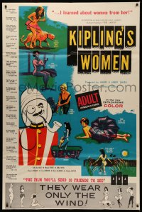 7j0006 KIPLING'S WOMEN 40x60 1961 early sexploitation, they wear only the wind, great art!