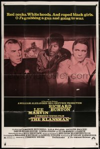 7j0007 KLANSMAN style B 40x60 1974 Lee Marvin, Richard Burton, & OJ Simpson in back of car with gun!