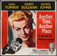 7j0054 ANOTHER TIME ANOTHER PLACE 6sh 1958 sexy Lana Turner has affair with young Sean Connery!
