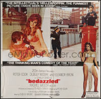 7j0059 BEDAZZLED 6sh 1968 different montage of Dudley Moore & Raquel Welch as Lust, rare!