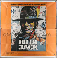 7j0061 BILLY JACK int'l 6sh 1971 best completely different art of Tom Laughlin by Ermanno Iaia!