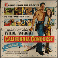 7j0063 CALIFORNIA CONQUEST 6sh 1952 barechested Cornel Wilde & Teresa Wright fight for freedom!