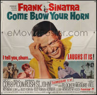 7j0071 COME BLOW YOUR HORN 6sh 1963 close up of laughing Frank Sinatra, from Neil Simon's play!