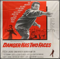 7j0073 DANGER HAS TWO FACES 6sh 1967 Robert Lansing couldn't die because he stole a dead man's face!