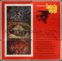 7j0075 FANTASTIC VOYAGE 6sh 1966 best art of Raquel Welch & scientists going into human brain, rare!