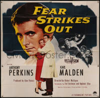 7j0076 FEAR STRIKES OUT 6sh 1957 Anthony Perkins as Boston Red Sox baseball player Jim Piersall!