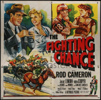 7j0079 FIGHTING CHANCE 6sh 1955 Rod Cameron gambles at horse racing, Julie London, cool art!