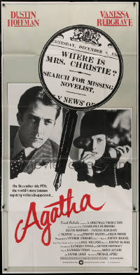 7j0026 AGATHA English 3sh 1979 Dustin Hoffman, Vanessa Redgrave, best magnifying glass image!