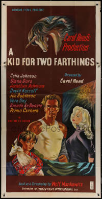 7j0029 KID FOR TWO FARTHINGS English 3sh 1955 art of sexy Diana Dors, directed by Carol Reed!