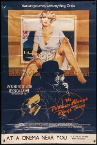 7j0022 POSTMAN ALWAYS RINGS TWICE English 40x60 1981 different art of Nicholson & Jessica Lange!