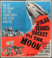7j0024 ROCKET TO THE MOON English 6sh 1967 Jules Verne, art of top cast & spaceship, ultra rare!