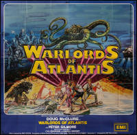 7j0025 WARLORDS OF ATLANTIS English 6sh 1978 really cool Josh Kirby fantasy art with sea monsters!
